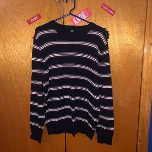 H&M striped sweater size XL Navy Blue